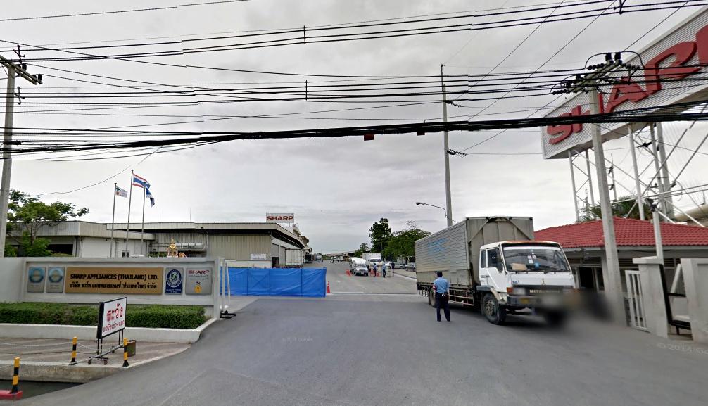 Сборочный завод холодильников в Таиланде (на карте), SATL (Sharp Appliances Thailand LTD).