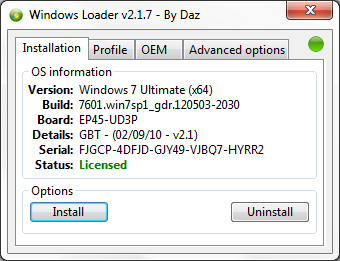 Windows Loader v2.2.1 by Daz