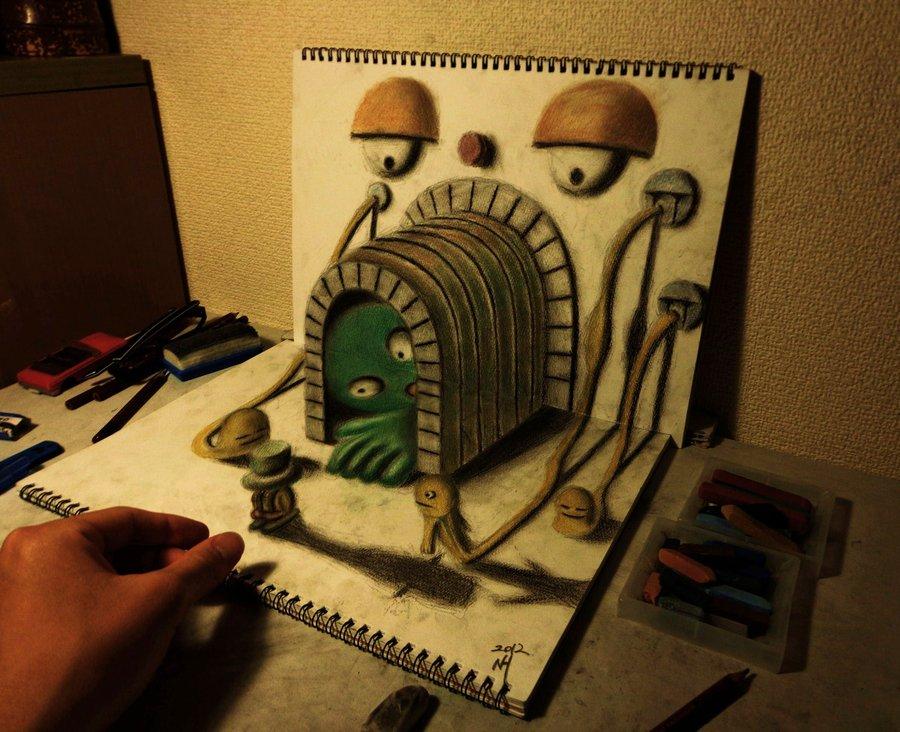 Его рисунки просто невероятны.