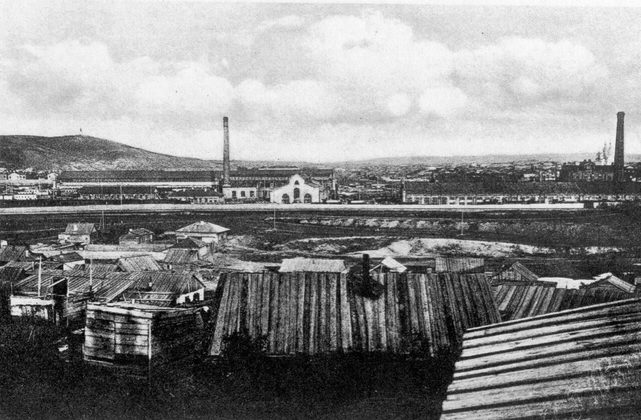Вид Красноярских железнодорожных мастерских