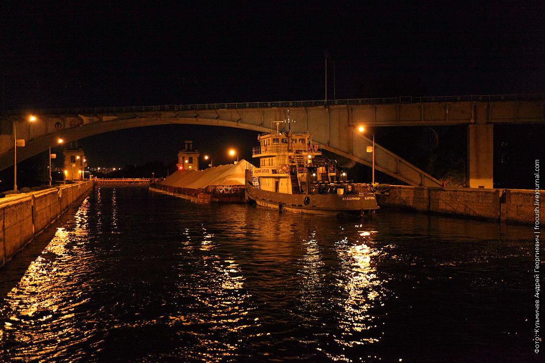 шлюз №8 канала имени Москвы вечернее фото