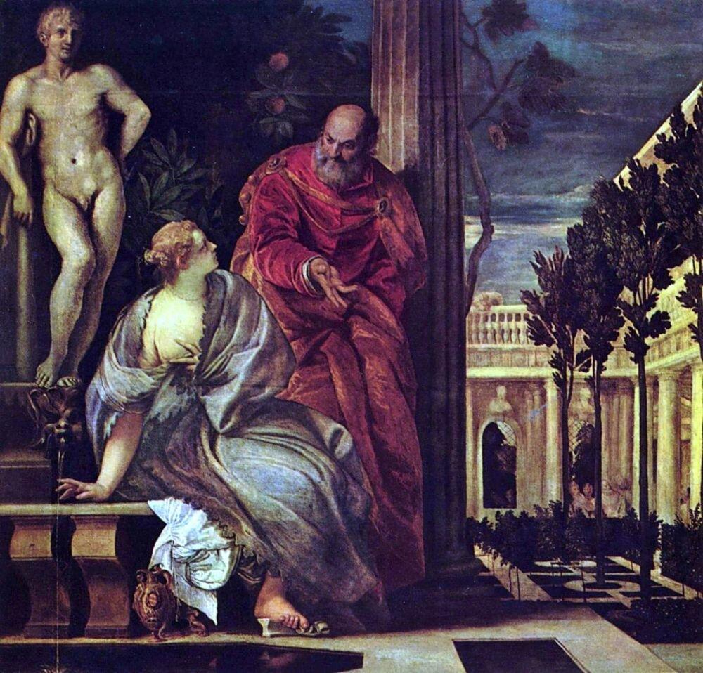 Веронезе. Вирсавия в своей ванной. 2-ая треть 16 века.