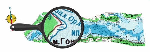 Карта глубин верховья реки вуокса
