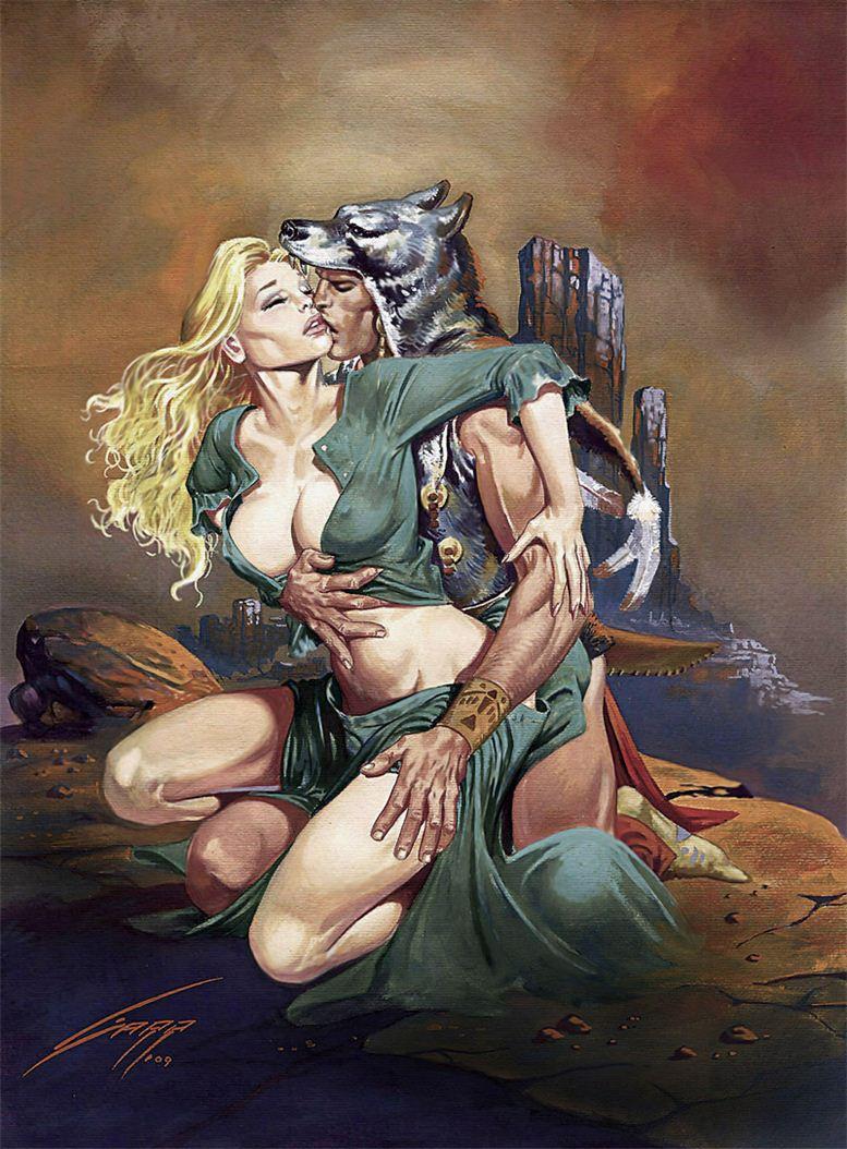 Горячие женщины - Рисунки художника Рафаэля Галлура / Rafael Gallur pictures - Love of Two Worlds
