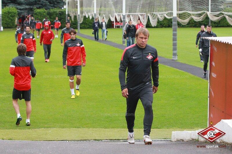 Тренировка «Спартака» перед матчем с «Фенербахче» (Фото)