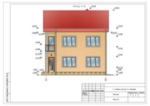 Проект двухэтажного дома.