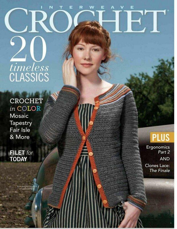 Interweave Crochet - популярный журнал по вязанию крючком моделей одежды и аксессуаров для всей семьи.