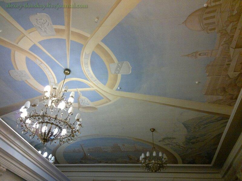Плафон Курского вокзала в Москве
