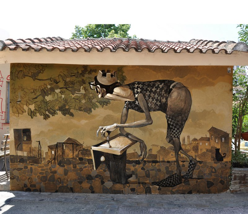 Стрит-арт  от Stamatis Laskos