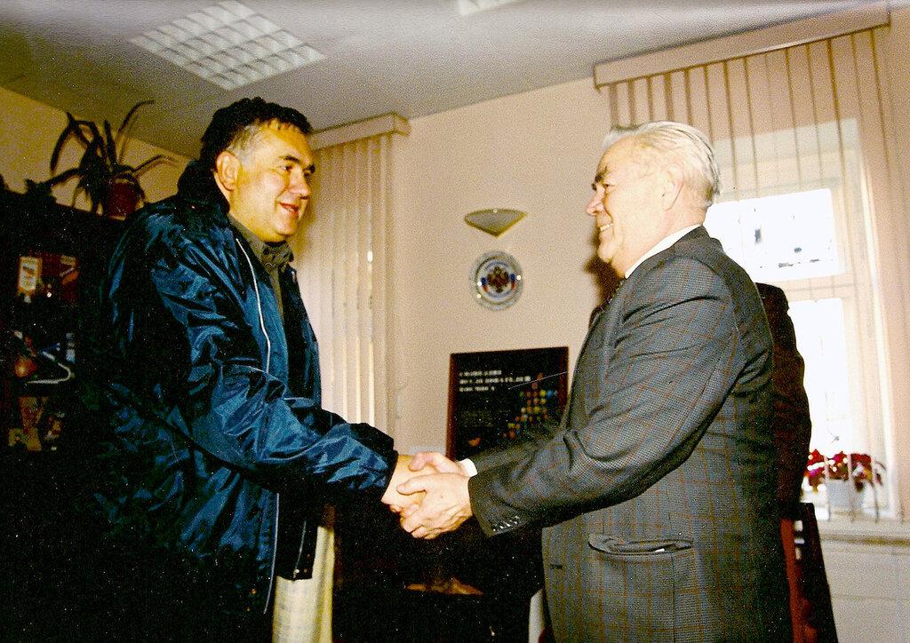 Стас Садальский и дважды Герой Советского Союза, генерал-майор авиации соетский космонавт Адриян Николаев
