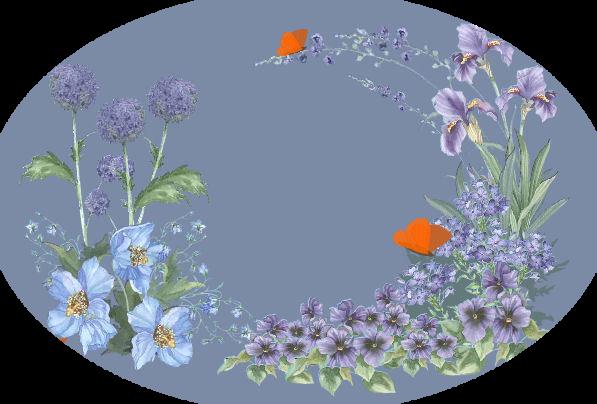 Красивые цветы на прозрачном фоне: клипарт