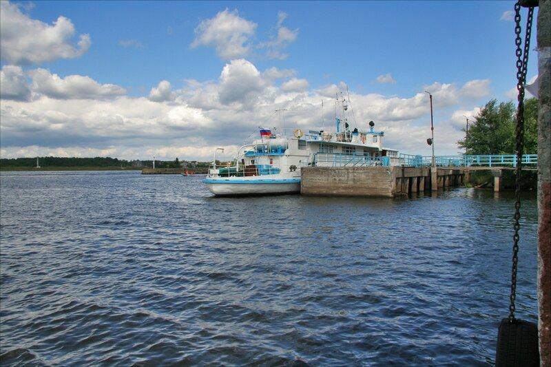 Шлиссельбург, Нева, вход в Новоладожский канал