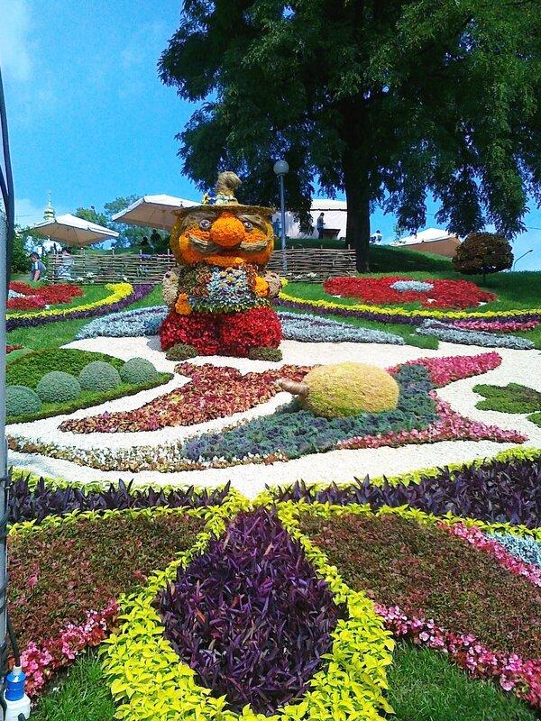 Ходит гарбуз по огороду - выставка цветов