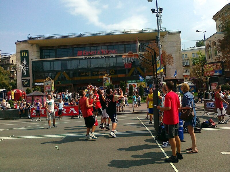 Стритбол 3х3 в День Незалежности