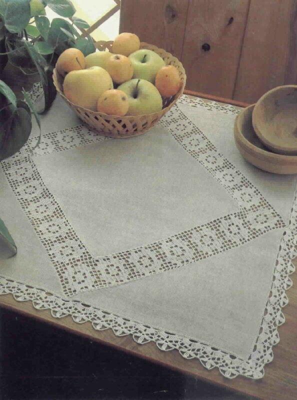 Вязание с тканью скатерть