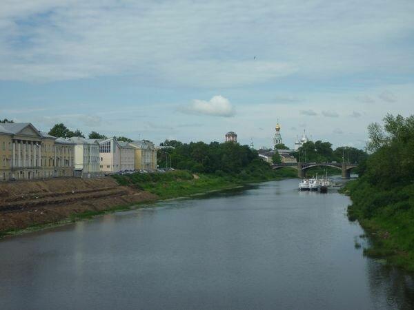 Река Вологда (снимок с Красного моста)