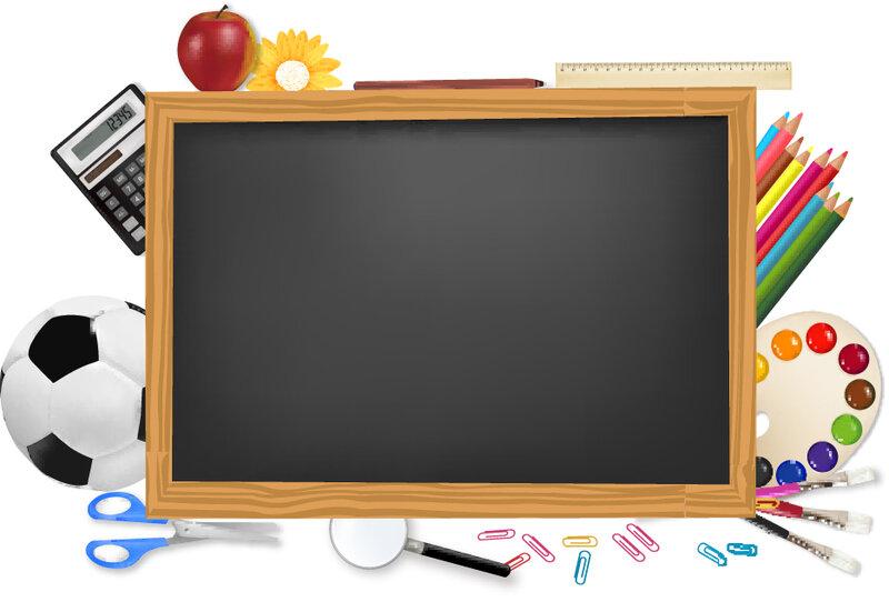 """Школьная доска - Векторный клипарт School desk - Stock Vectors """" Красочный сайт"""