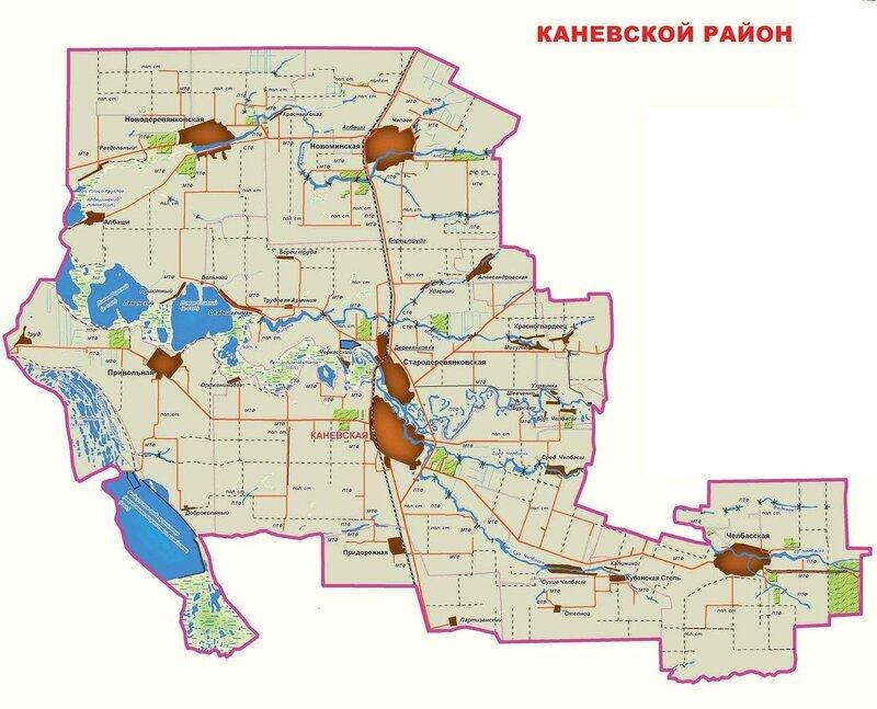 Карта Каневского района