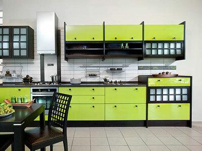 Цветовое решение интерьера кухни.