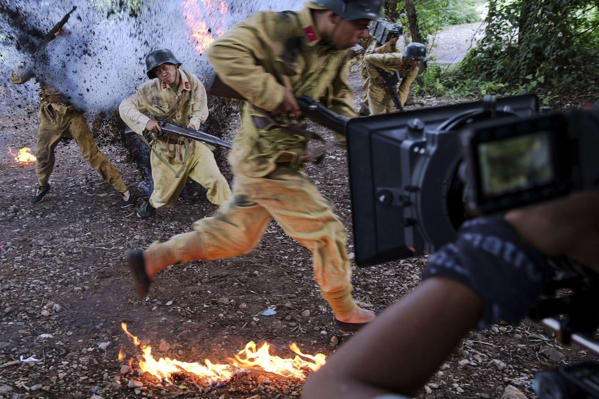 Война и немцы: На съемках китайского телесериала о 2-й мировой войне (5)