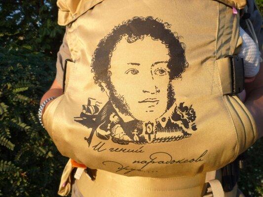 Эргорюкзак Пушкин спинка рисунок