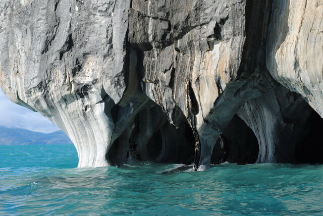 Мраморные пещеры. Озеро Хенераль-Каррера. Чили
