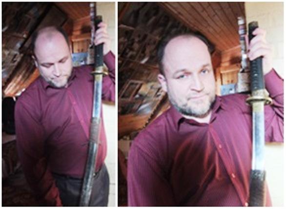 Самурайский меч полицейского Ва-Цу, которым он ранил Цесаревича Николая-II