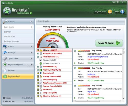 Оптимизация и очистка реестра