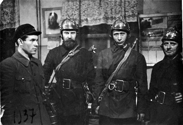 Fire protection team of the '8th of March' factory, Leningrad, 1937.