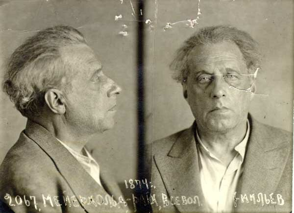 Mugshot of Vsevolod Meyerhold from his arrest in 1939, he was executed the following year.