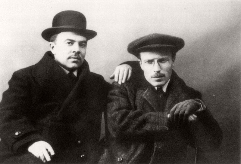 Portrait of artists Pavel Kuznetsov and Aleksandr Matveyev, 1909-10.