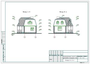 Проект двухэтажного дачного дома.