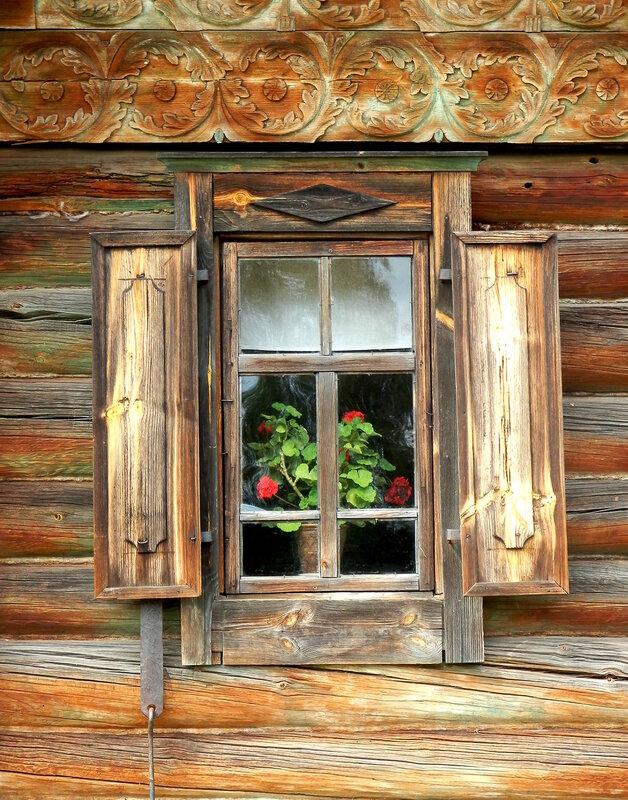 """Схема вышивки  """"Окно в сельском доме."""