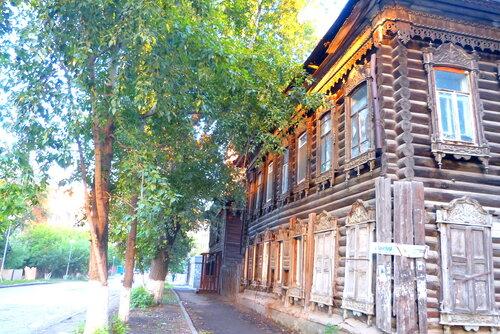 Улочка старого деревянного Томска