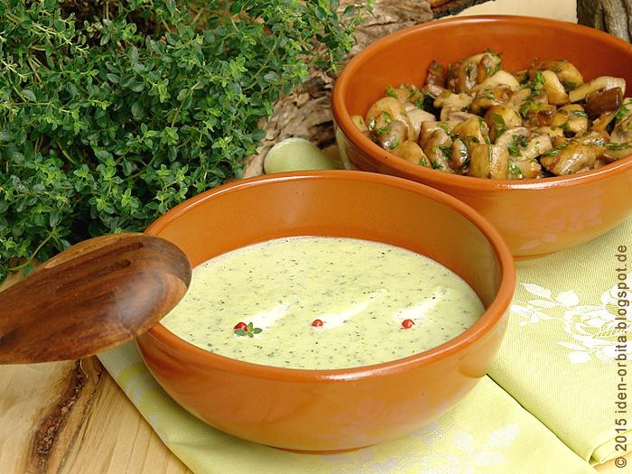 Суп из цуккини с сыром