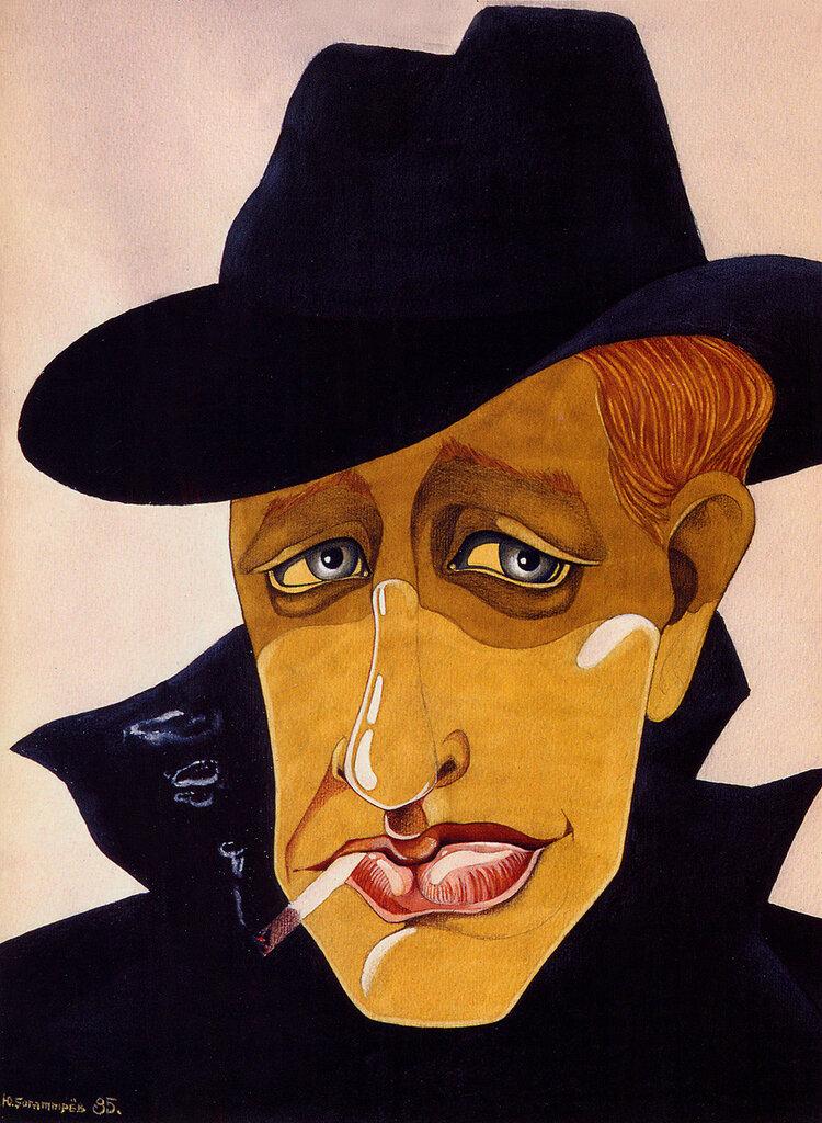 Евгений Евстигнеев. Рисунок Юрия Богатырева.