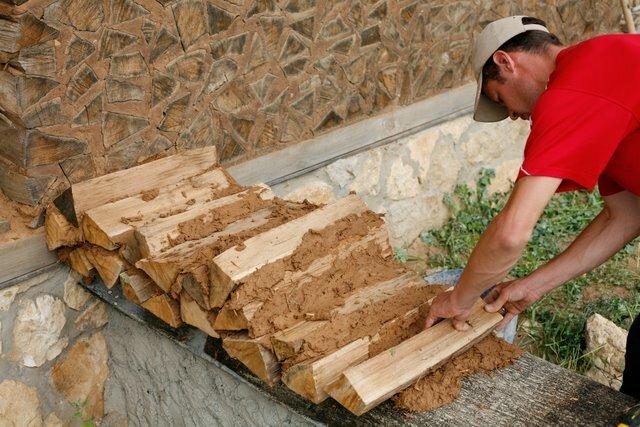 Дом из дров, глины и сена. Проекты домов и коттеджей