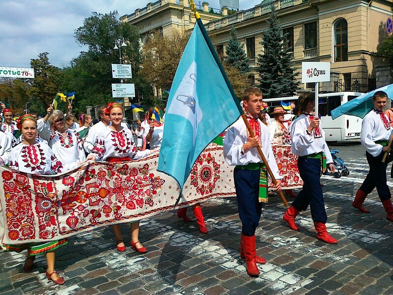Сумы на Параде вышиванок 2012 в Киеве