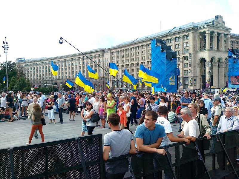 Зрители концерта Дня Незалежности 2012