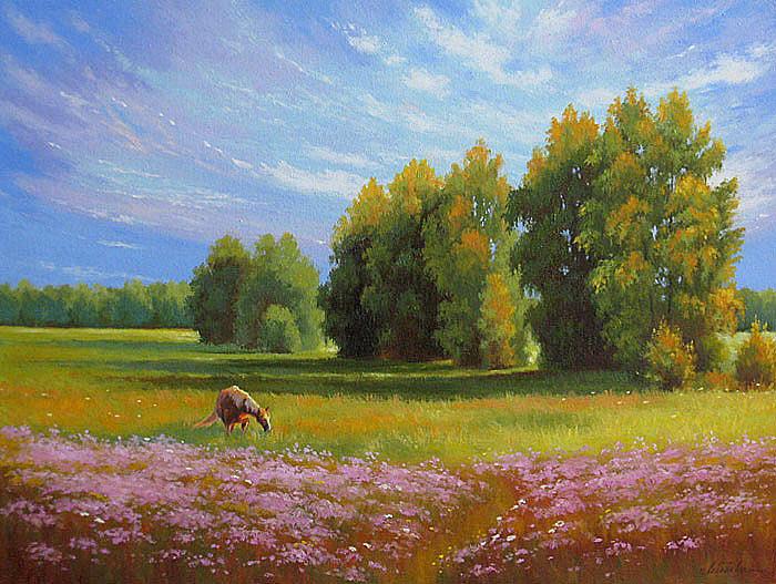 Под небом голубым. Великолепные пейзажи Лебедевой Елены