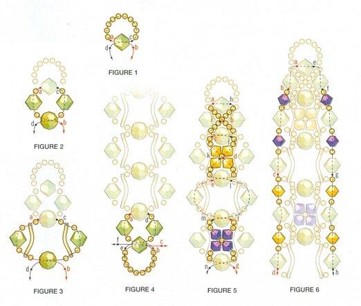 Несколько схем плетения браслетов.  Большое разнообразие сочетания цветов бусин и бисера.  Немного фантазии и у вас...