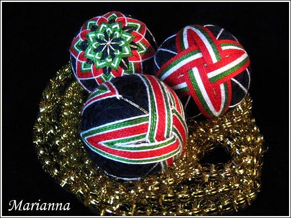 Набор Весёлый Новый год - хризантема, крылья, веретёнца