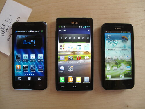 LG Optimus 4X HD vs Huawei Honor vs OPPO Finder