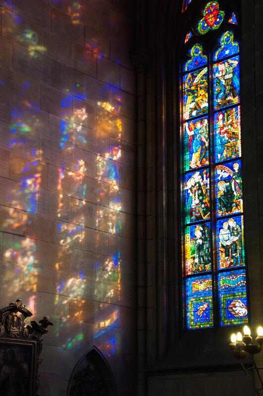 Свет витражей! Собор Святого Вита Интерьер