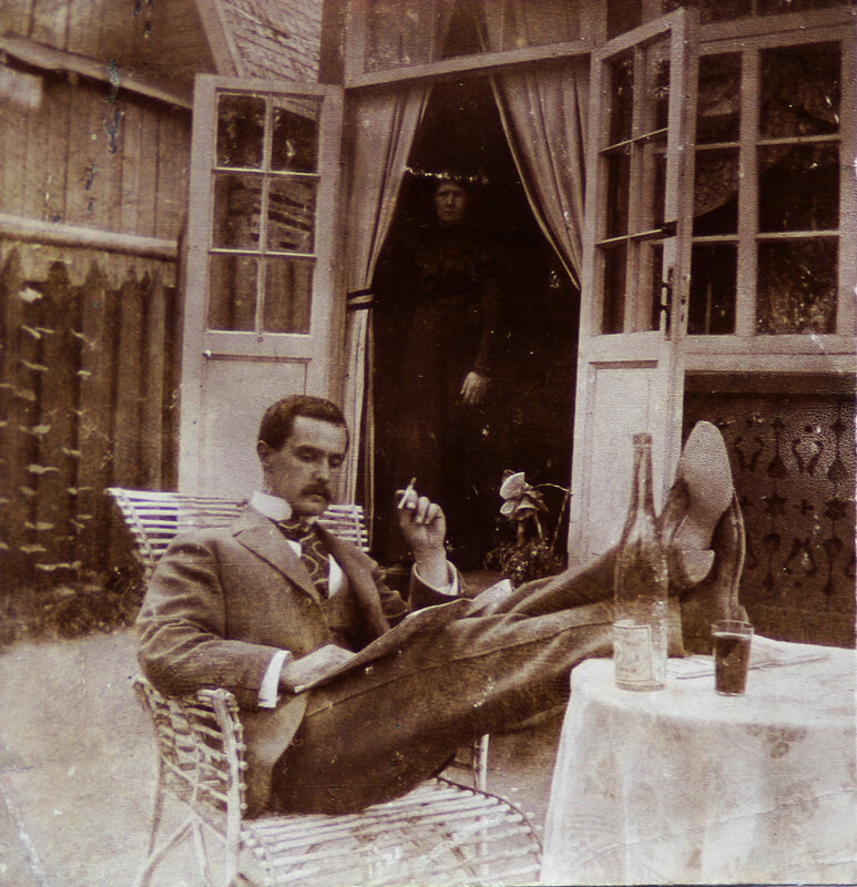 A Russian man at leisure, 1900's.