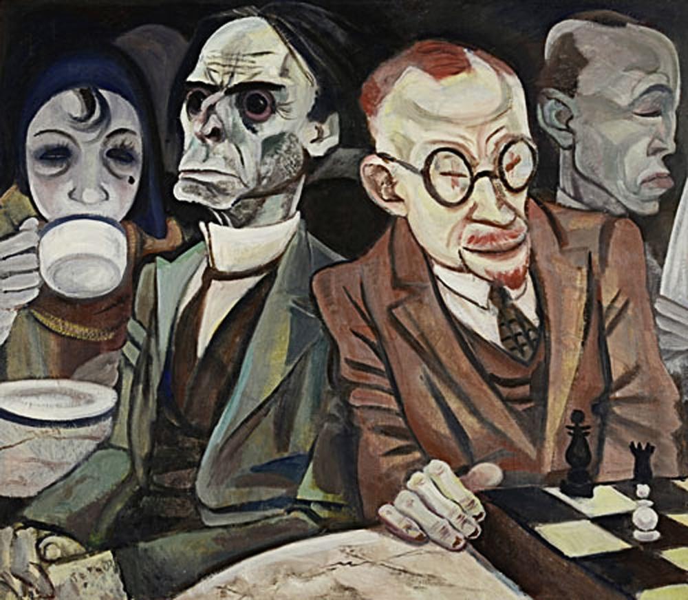 Шахматист (1929-1930) Жанна Маммен (1890-1976).