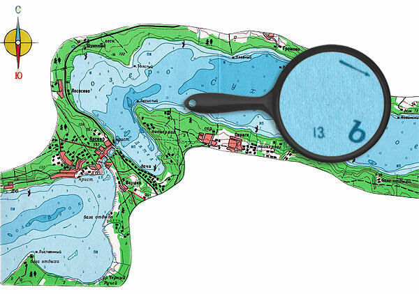 1-Карта глубин озера Сходольское