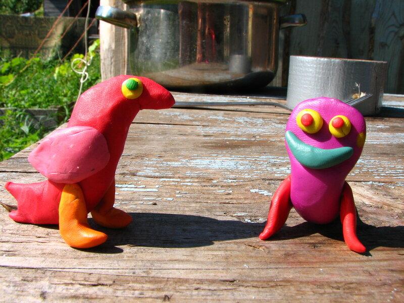 Виноватая птица и Улыбус (сделано Денисом)