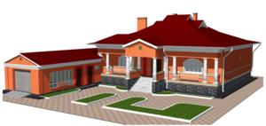 Проект одноэтажного дома.