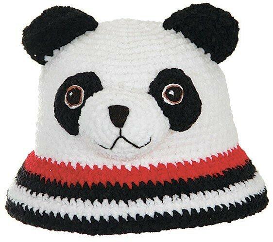 Схема вязания шапки панда.